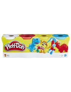 PLAY-DOH PACK DE 4 BOTES CLASICOS