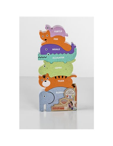 ECO LOGIC PUZZLE ANIMALES APILABLES SURTIDOS